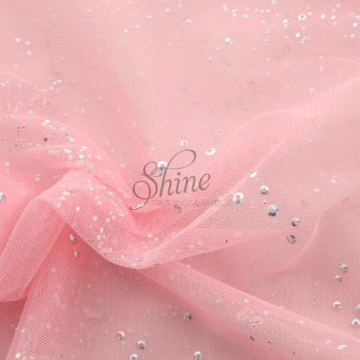 Confetti Stretch Tulle Pink