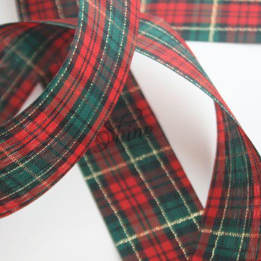 Tartan Ribbon 35mm Green/Multi Check