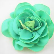 Two-Tone Georgette Flower Lime
