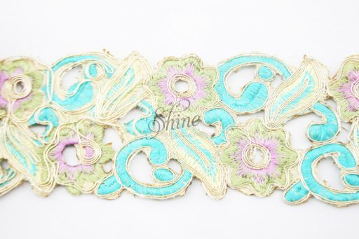Floral Embroidered Trim