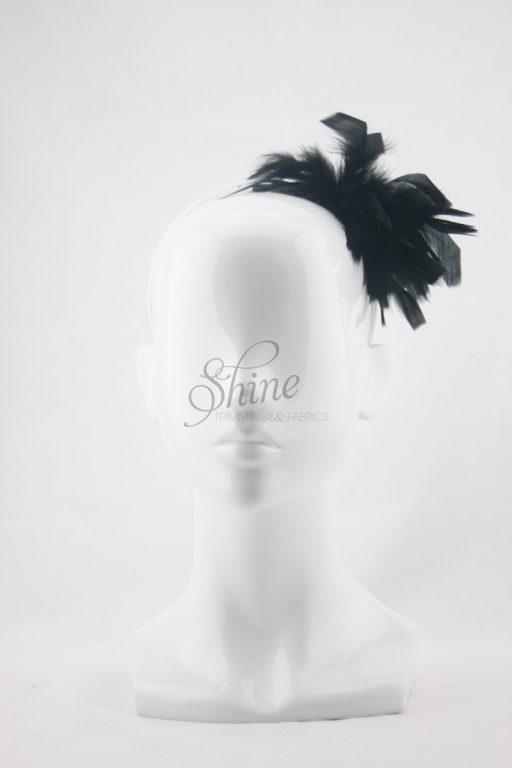 Feather Headband Black
