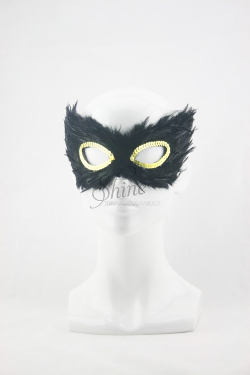 Small Feather Mask Black