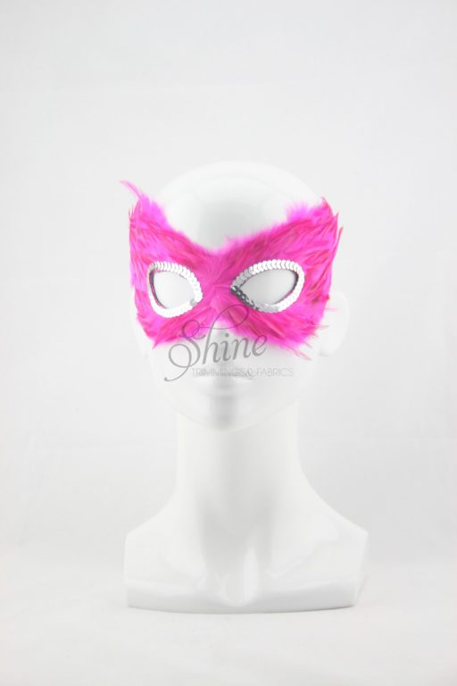 Small Feather Mask Pink