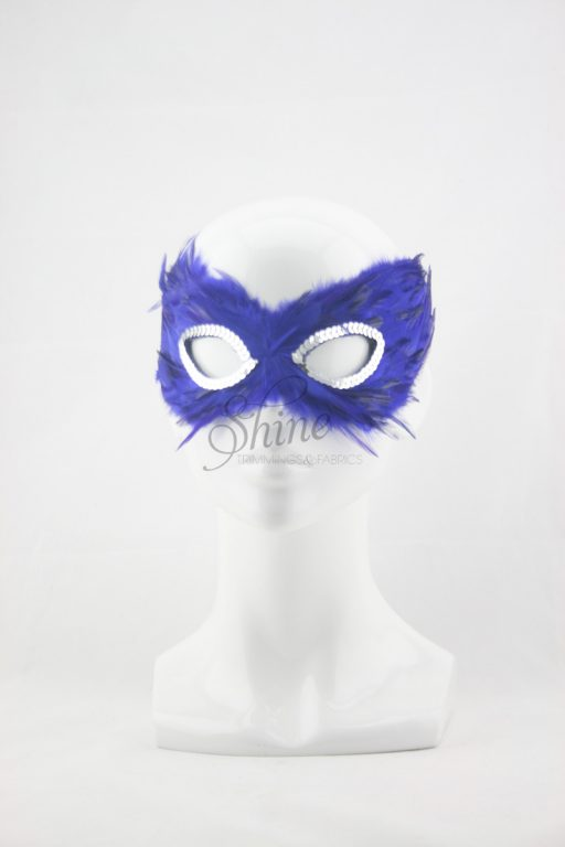 Small Feather Mask Royal