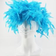 Feather Wig Aqua Blue