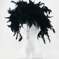 Feather Wig Black