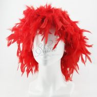 Feather Wig Red