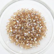 Swarovski Xilion Bead Light Colorado Topaz AB 246 AB