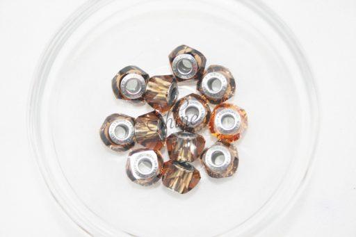 Swarovski BeCharmed Helix Bead Smoked Topaz 221