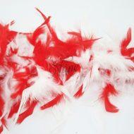 Two Tone Turkey Boa Red White