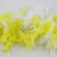 Two Tone Turkey Boa Yellow White