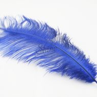 Blondine Feather Electric Blue
