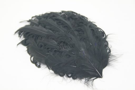 Curly Hackle Pad Black