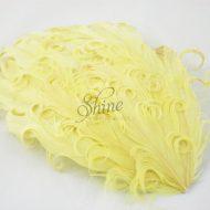 Curly Hackle Pad Lemon Yellow