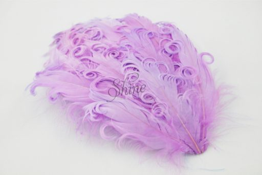 Curly Hackle Pad Light Lilac