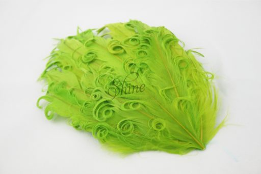 Curly Hackle Pad Lime Green