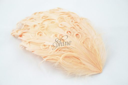 Curly Hackle Pad Peach