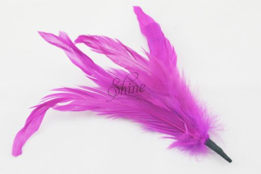 Cocktail Feather Spike Fuchsia Pink