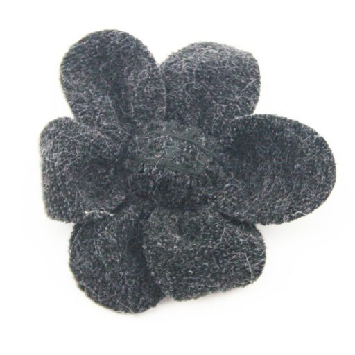 Knitted Fabric Flower Black