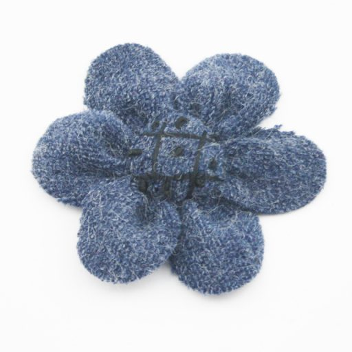 Knitted Fabric Flower Navy