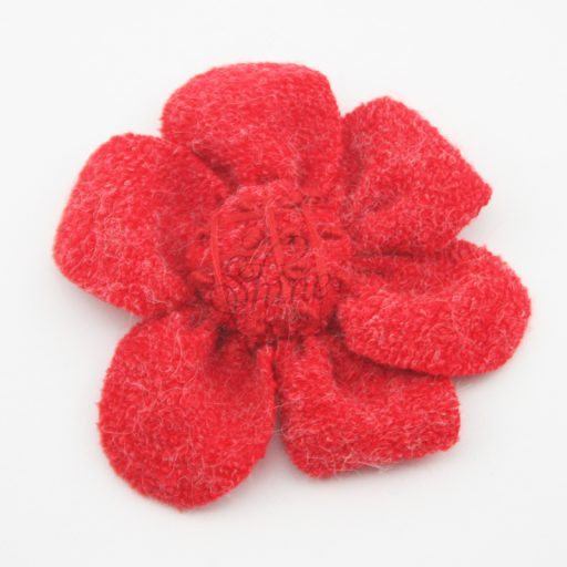 Knitted Fabric Flower Red