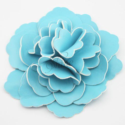Leather Flower Blue