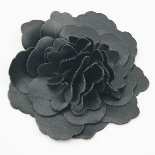 Leather Flower Black
