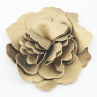 Leather Flower Gold
