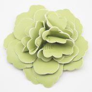 Leather Flower Apple Green