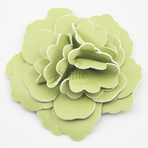 Leather Flower Apple Green