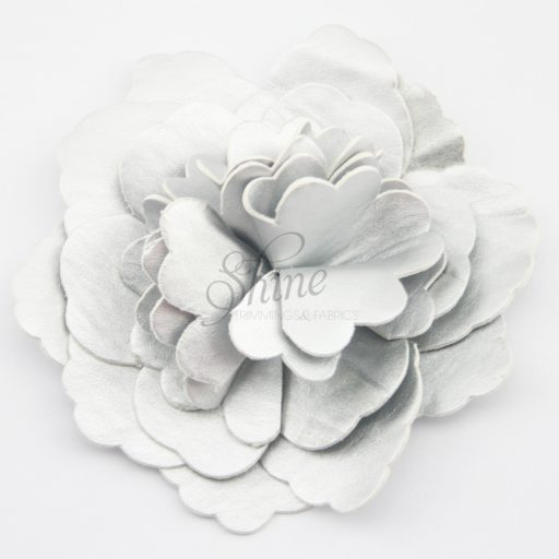 Leather Flower Silver