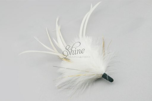 Tinsel Marabou Spike White Gold