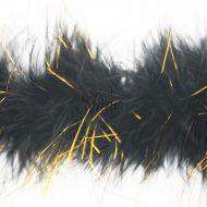 Marabou Trim Tinsel Black Gold
