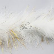 Marabou Trim Tinsel White Gold