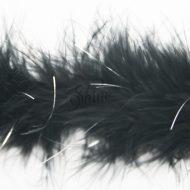 Marabou Trim Tinsel Black Silver