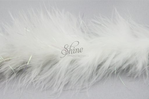 Marabou Trimming Iridescent AB White