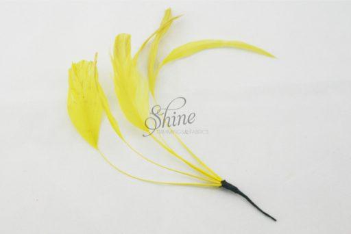 Stripped Feathers Lemon Yellow