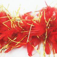 Tinsel Turkey Boa Red Gold