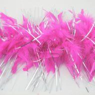 Tinsel Turkey Boa Cyclamen Pink Silver