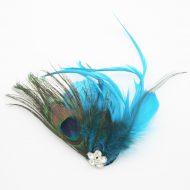 Feather Motif with Pin Aqua