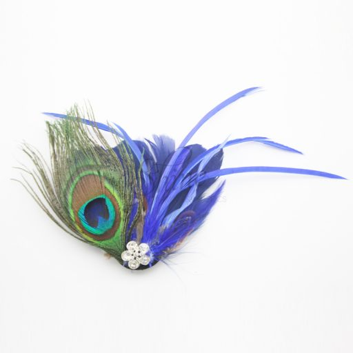 Feather Motif with Pin Royal
