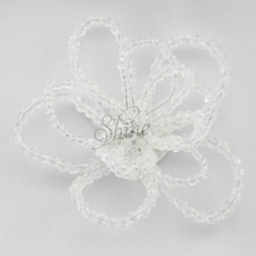 Beaded Wire Flower Crystal