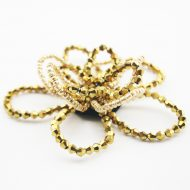 Beaded Wire Flower Gold