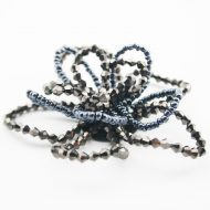 Beaded Wire Flower Gunmetal