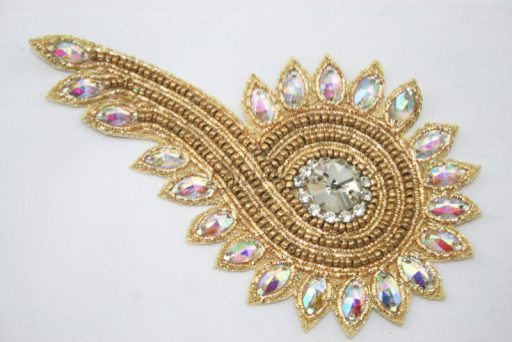 Indian Beaded Swirl Motif Gold