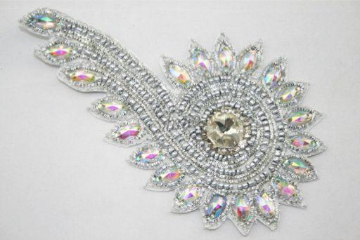 Indian Beaded Swirl Motif Silver