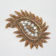 Indian Paisley Motif Bronze
