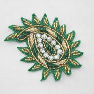 Indian Paisley Motif Emerald