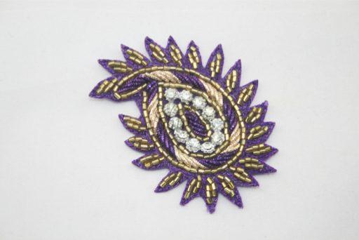 Indian Paisley Motif Purple