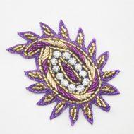 Indian Paisley Motif Purple Fuchsia Pink